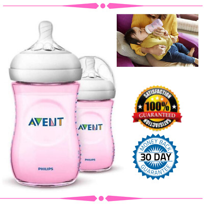 AU27.53 • Buy Baby Bottles Avent Natural Philips260ml Bottle 2 Pack Anti Colic Valve