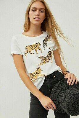 $ CDN52.20 • Buy Anthropologie Tigers Graphic Tee New Nwt XS