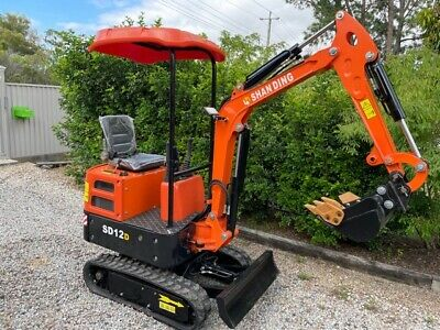 AU14900 • Buy 2021 NEW SD12DS Diesel Excavator SWINGBBOM With 9 Heavy Duty Attachments