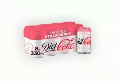 Coca Cola Diet Coke Twisted Strawberry 8 X 330ml Cans Free Delivery • 13.99£