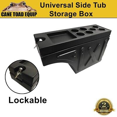 AU189 • Buy Ute Tub Storage Box Side Universal Tool Box Lockable Single Trailer Black