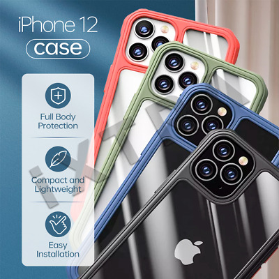 AU8.88 • Buy For IPhone 12 Pro Max 12 Mini 12 Clear TPU Silicone Shockproof Bumper Case Cover