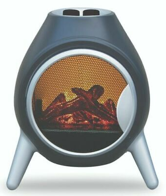 Fireplace Log Burning Flame Effect Electric Stove Standing Fan Heater 900/1800W • 89.99£