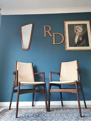 Mid Century Danish Dining Chairs By Erik Buch For Anderstrup - Pair Of Carvers • 260£