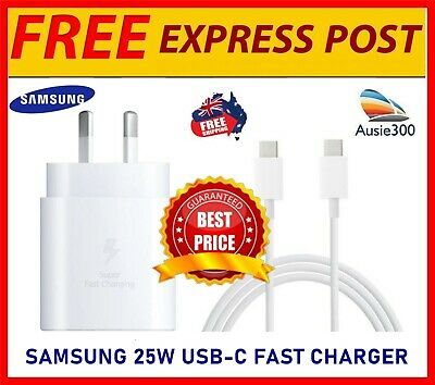 AU32.99 • Buy Genuine Samsung EP-TA800 25W Super Fast Wall Charger Note 20/10/S20+/S21 Ultra