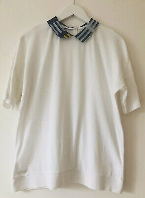 Lacoste Top Polo Collar Detail Size 44 White Womens  • 25£
