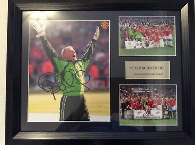 Peter Schmeichel, Manchester United, Signed Photo, Framed, Cert Of Authenticity • 49.99£