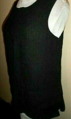 AU22.50 • Buy J GENERATION Linen TOP Size 10 Black Sleeveless Summer Work Casual Slip On