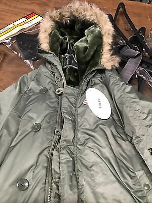$85 • Buy Military US Parka Extreme Cold Weather N-3B Size Large