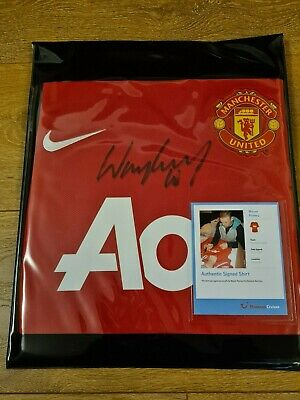 £170 • Buy Manchester United Wayne Rooney Signed Shirt 2011 Certificate Of Authentication.