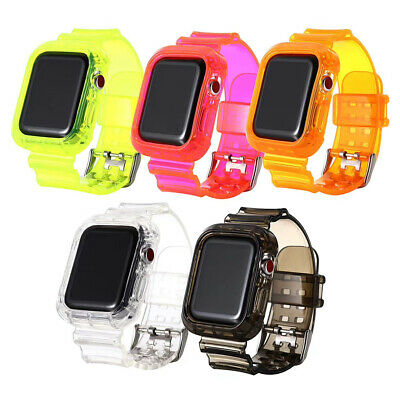 $ CDN13.14 • Buy Silicone Protection+Strap Watch Band For Apple Iwatch Series 5/4/3 40/44mm