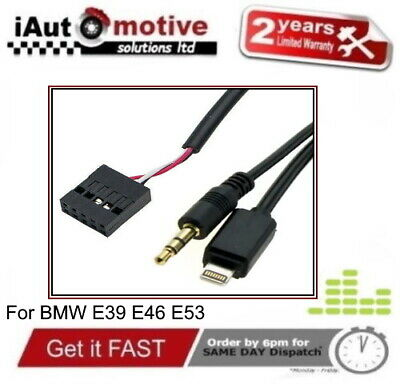 BMW 3 5 Series X5 3.5 AUX IN Adapter IPod IPhone Music Media Cable E39 E46 E53  • 39.99£