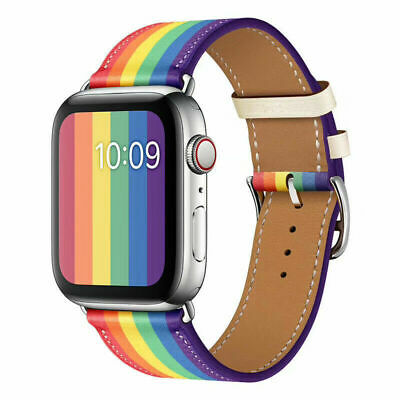 $ CDN15.78 • Buy Genuine Leather Apple Watch Band Strap For IWatch Series SE/6/5/4 38/40/42/44mm