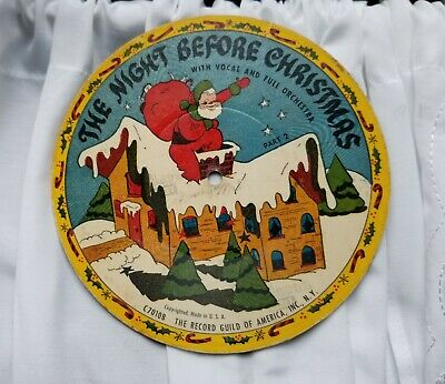 $ CDN13.16 • Buy 🌲 2 Vintage Christmas Records Santa~Jingle Bell Sleigh Record Guild GREAT...