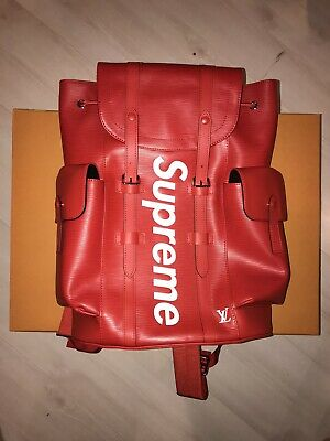 $ CDN25308.72 • Buy Louis Vuitton Supreme Christopher Epi Red Backpack Rare Brand New With Tags