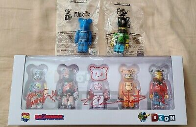 $199.72 • Buy DCON FUNKO 2018 And 2019 BEARBRICK 100% ARTIST SERIES ONE SIGNED 4 SIGNATURES