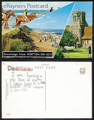 01/03 : Picture Postcard Greetings From HOPTON-ON-SEA • 1.99£