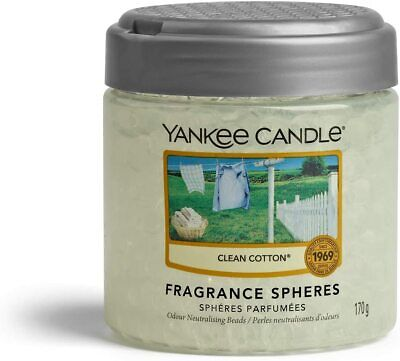 £8.33 • Buy Yankee Candle Fragrance Spheres Air Freshener, 30 Days Fragrance, Clean Cotton
