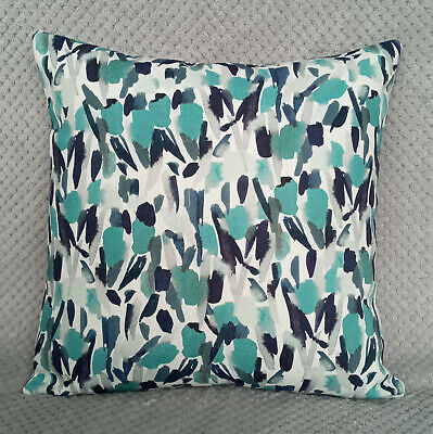 Cushion Cover 18  X 18  John Lewis Double Sided POSIE Fabric, Peacock • 9.50£