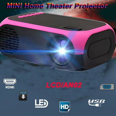 1080P HD Mini LED Projector Home Theater Video Multimedia Wifi BT USB AV HDMI UK • 38.39£