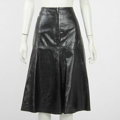 AU345 • Buy Scanlan Theodore Wet Look Patent Skirt Size 10