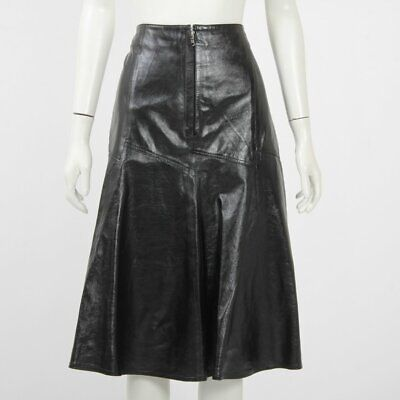 AU289 • Buy Scanlan Theodore Wet Look Patent Skirt Size 12