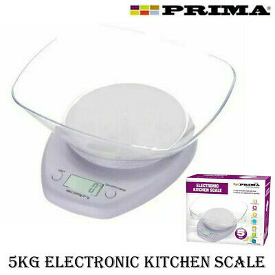 5kg Digital Kitchen Scale Electronic Weighing Measuring Baking Cooking Bowl Lcd • 8.95£