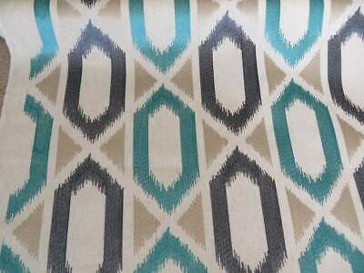 John Lewis JUANA Embroidery Furnishing Fabric Sold By The Metre, Lagoon Blue • 11.99£