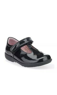 School Shoes Daisy May Black Patent Leather Girls Shoes 7.5G Clarks • 21£