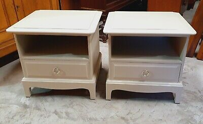 Pair Of Stag Minstrel Bedside Cabinets Spray Finished      Delivery Available • 175£