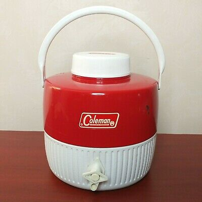 $23.99 • Buy Vintage COLEMAN WATER JUG  Red And White 1 Gallon Cooler 1976 Collectible