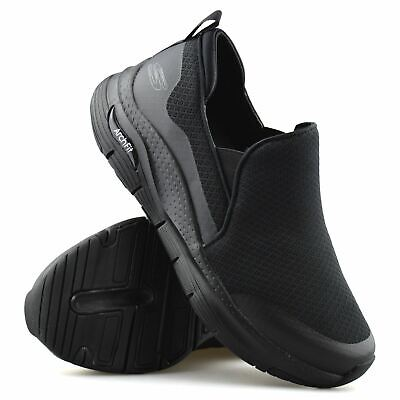 Mens Skechers Slip On Arch Fit Extra Wide Walking Sports Gym Trainers Shoes Size • 53.98£
