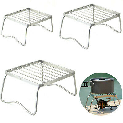 AU19.99 • Buy Folding BBQ Barbecue Grill Burner Support Stand Rack For Outdoor Camping Hiking