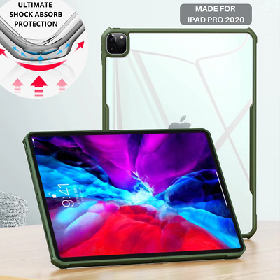 AU19.95 • Buy Shockproof IPad Case For IPad Pro 11  & 12.9  2020 Clear Case Heavy Duty Cover