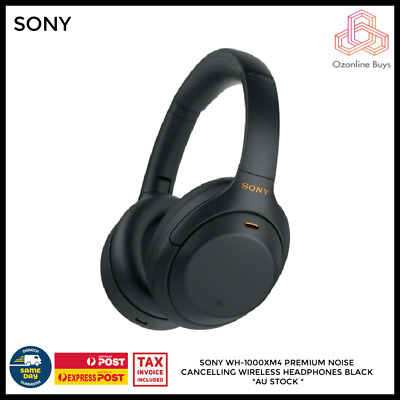 AU349 • Buy Sony WH-1000XM4 Wireless Noise Cancelling Headphones - Black * AU STOCK *