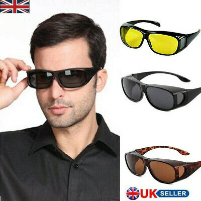 Fit Over Sunglasses With Side Shield Driving Lens Copper Wrap Protection Glasses • 5.99£