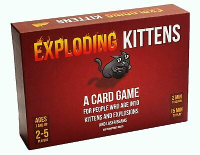 AU39.95 • Buy Exploding Kittens Card Game 2-5 Players