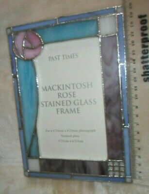 Vintage Style Past Times Mackintosh Stained Glass Photo Photograph Frame Large • 6£