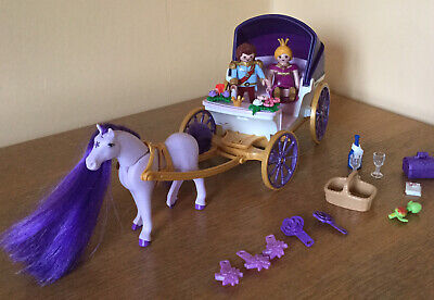 Playmobil Princess 6856 Royal Couple And Carriage With Horse Mane. • 16.50£