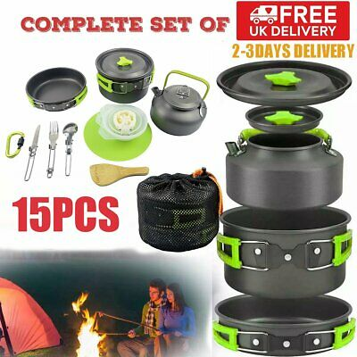 £23.93 • Buy Cook Set Portable Camping Cookware Kit Outdoor Picnic Hiking Cooking Equipment