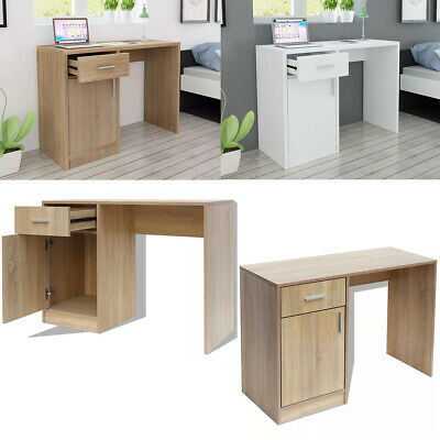Computer Desk PC Laptop Table With Drawer Cabinet Home Study Workstation Gaming • 137£