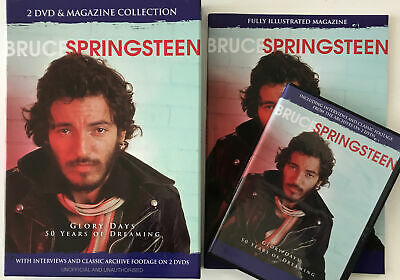 Bruce Springsteen Boxed Set. Glory Days. 50 Years Of Dreaming. Magasine. 2x DVD • 11£