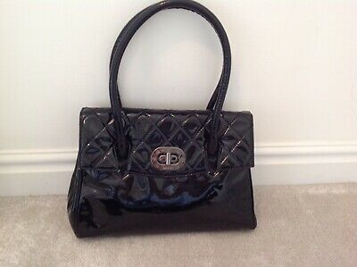 Russell & Bromley Black Patent Bag In Very Good Condition • 34.99£