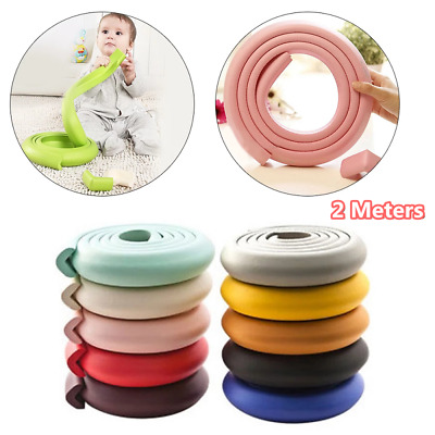 £4.55 • Buy 2M Safety Foam Rubber Strip Table Edge Corner Guards Protector For Kid Baby Head