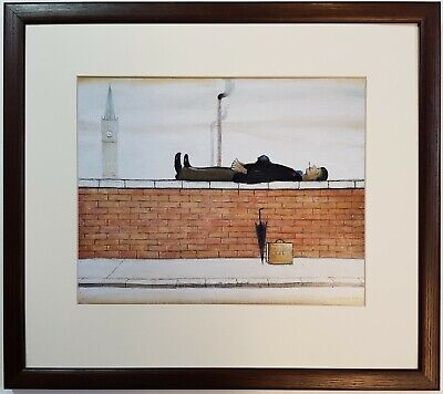 L.S Lowry Man Lying On A Wall 1957 Framed Print • 22£