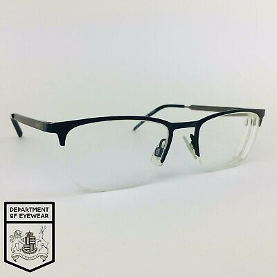 HUGO BOSS Eyeglasses BLUE HALF RIMLESS Glasses Frame MOD: HG 05 • 35£