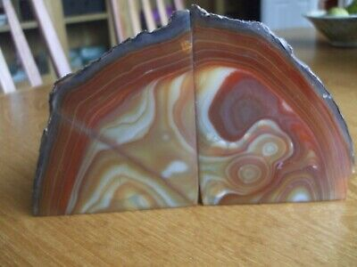 Brown Agate Book Ends • 27.50£
