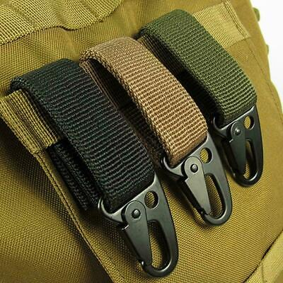 Nylon Tactical Molle Belt Carabiner Key Holder Camp Buckle Hook Bag Clip • 1.99£