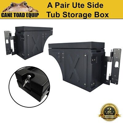 AU345.95 • Buy Ute Tub Storage Box Side Universal Tool Box Lockable A Pair Trailer Black