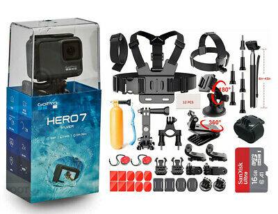 $ CDN291.79 • Buy GoPro HERO7 2 Inch 4K Waterproof Action Camera - Silver (CHDHC-601) Sport Kits